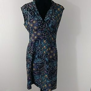 Athleta Dress Paisley Sz 6